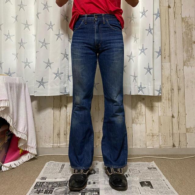 JOHN LAWRENCE SULLIVAN(ジョンローレンスサリバン)のLevi's 646 似 フレア デニム 684 ベルボトム メンズのパンツ(デニム/ジーンズ)の商品写真