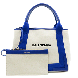 Balenciaga - バレンシアガ  2WAYバッグ  ネイビーカバ S 339933  ホワ