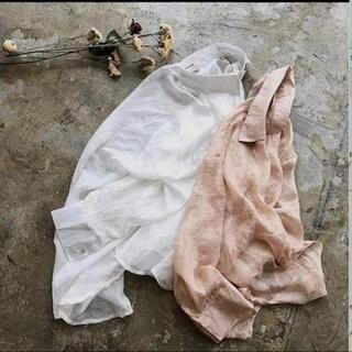 トゥデイフル(TODAYFUL)のunbouquet/organdy shirt ホワイト(シャツ/ブラウス(長袖/七分))