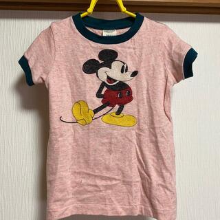デニムダンガリー(DENIM DUNGAREE)のDENIMDUNGAREE×mickey/ミッキー刺繍半袖Tシャツ110(Tシャツ/カットソー)