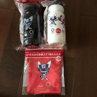 東京オリンピック2020 巾着1枚 + 水筒2個 セット