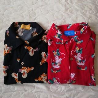 ディズニー(Disney)のTDR くまのプーさんティガー&ミニーちゃんアロハシャツセット(シャツ/ブラウス(半袖/袖なし))