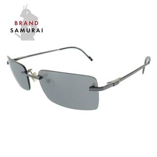 Dunhill - ダンヒル シルバー ブラック ステンレススチール サングラス 104801