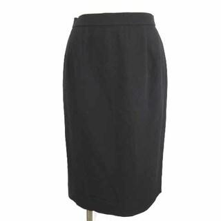 レオナール(LEONARD)のレオナール FASHION ひざ丈 スカート タイト 無地 ツータック 黒 70(ひざ丈スカート)