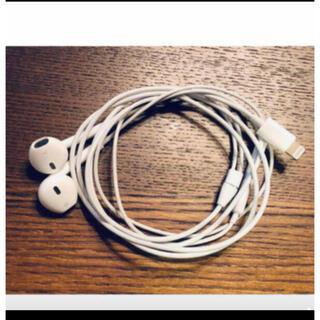アップル(Apple)のアップル純正 イヤホン iPhone X 付属品 ライニングタイプ 同動作確認済(ヘッドフォン/イヤフォン)