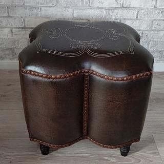【美品】レザー leather オットマン 椅子 スツール(オットマン)