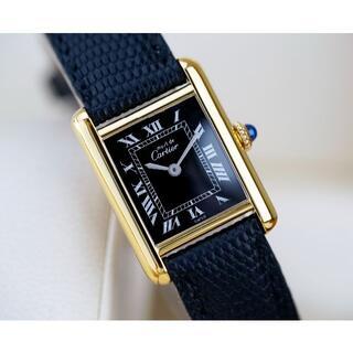 Cartier - 美品 カルティエ マスト タンク ブラック ローマン 手巻き SM