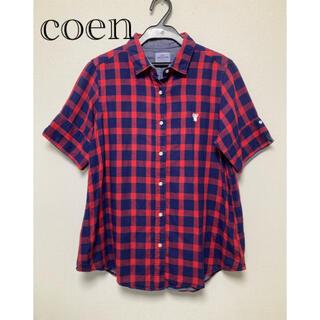 coen - 【coen 】チェックコットンシャツ L