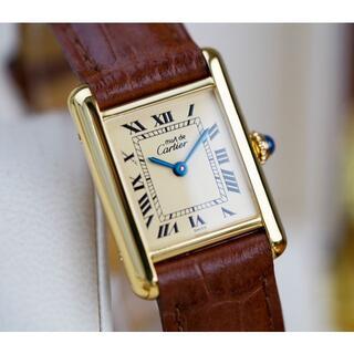 Cartier - 美品 カルティエ マスト タンク アイボリー ローマン 手巻き SM