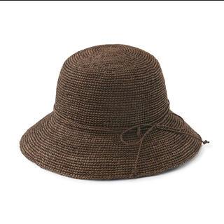 ムジルシリョウヒン(MUJI (無印良品))の無印 ラフィア キャペリン ブラウン(麦わら帽子/ストローハット)