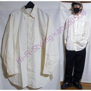 ISSEY MIYAKE - イッセイミヤケ 前面刺繍 オーバーサイズ 長袖シャツ M オフホワイト
