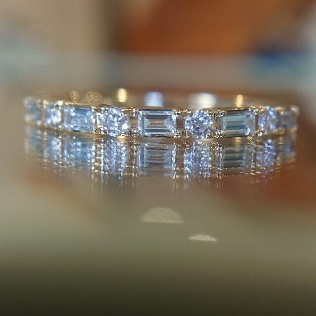 agete(アガット)のベルシオラ バゲットカット エタニティリング ダイヤ ダイヤモンド K18 レディースのアクセサリー(リング(指輪))の商品写真