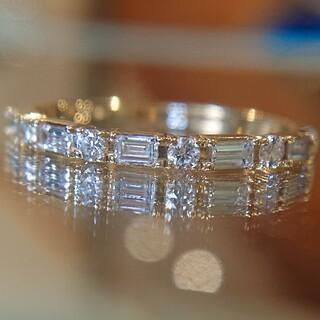 agete - ベルシオラ バゲットカット エタニティリング ダイヤ ダイヤモンド K18