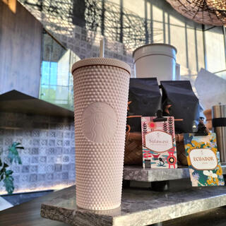 スターバックスコーヒー(Starbucks Coffee)のホワイト Starbucks スタバ タンブラー スタッズ スタッド(タンブラー)
