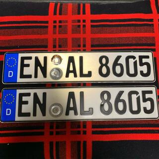 フォルクスワーゲン(Volkswagen)の8605 本物 ドイツ ユーロナンバープレート BMW ベンツアウディポルシェ(車外アクセサリ)