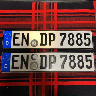 AUDI - 7885 本物 ドイツ ユーロナンバープレート BMWベンツ アウディポルシェ