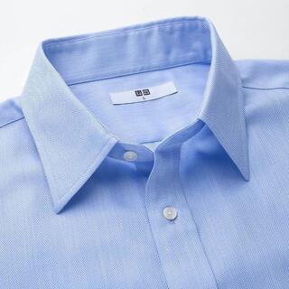UNIQLO - S (レギュラーフィット) ドライイージーケアドビーシャツ(半袖) 61 ブルー