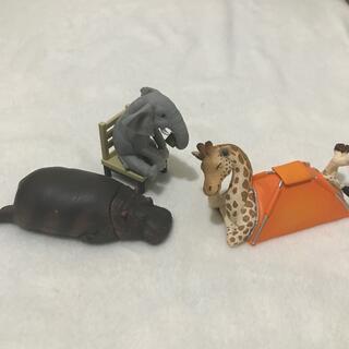 動物キャンプ キリン ゾウ  おまけのカバ(その他)