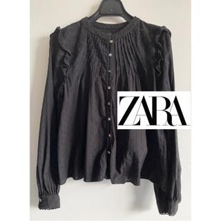 ZARA - ZARA 刺繍ブラウス