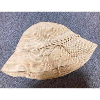 ムジルシリョウヒン(MUJI (無印良品))のラフィア たためる キャペリン(麦わら帽子/ストローハット)