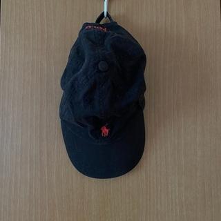 ポロラルフローレン(POLO RALPH LAUREN)の黒に赤のロゴキャップ(キャップ)