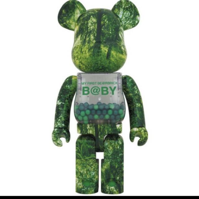 MEDICOM TOY(メディコムトイ)のBE@RBRICK FOREST GREEN Ver. 1000% エンタメ/ホビーのフィギュア(その他)の商品写真