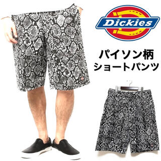 Dickies - Dickies☆パイソン柄ショートパンツ☆32インチ☆白黒☆