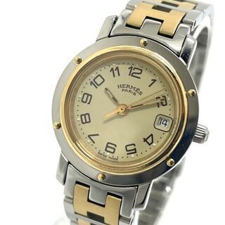 エルメス(Hermes)のエルメス CL4.420 クリッパー デイト レディース腕時計 SS/GP(腕時計)