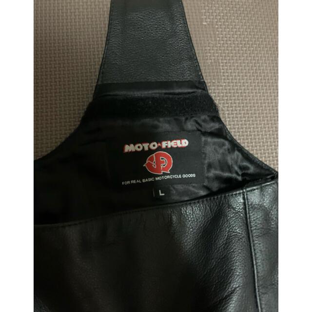 モトフィールド(MOTO FIELD) チャップス 片足バキタイプ ブラック L 自動車/バイクのバイク(装備/装具)の商品写真