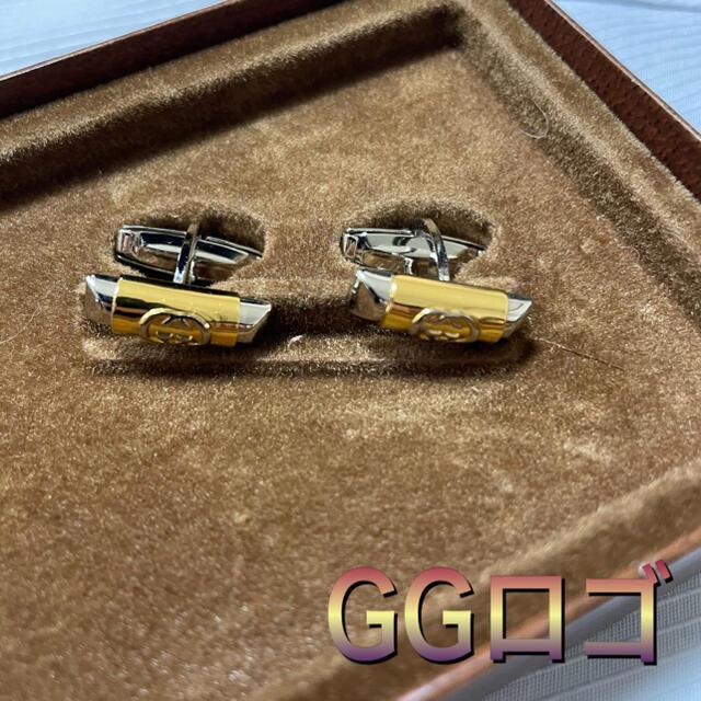 Gucci(グッチ)のグッチ GGロゴ 【未使用】タイピン&カフスセット ヴィンテージ メンズのファッション小物(ネクタイピン)の商品写真
