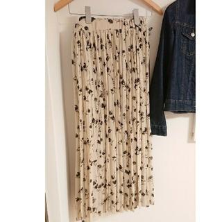 グローバルワーク(GLOBAL WORK)のロングスカート 花柄 フラワー プリーツスカート シフォンスカート(ロングスカート)