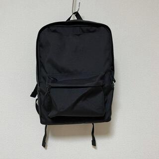 ムジルシリョウヒン(MUJI (無印良品))の無印良品 手提げとしても使える撥水リュックサック A4サイズ 黒(リュック/バックパック)