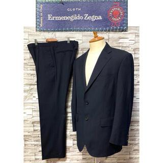 Ermenegildo Zegna - ゼニア Zegna セットアップ スーツ ネイビー ストライプ 美品 ウール