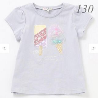 anyFAM - 新品 any FAM エニィファム キッズ ビーズ 半袖Tシャツ 130