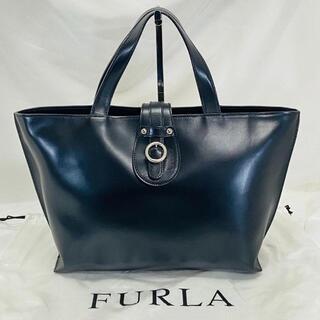 Furla - 美品☆FURLA フルラ トートバッグ ブラック 黒 本革 レザー ベルト