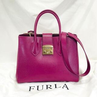 Furla - 極美品☆FURLA フルラ 2way メトロポリス ハンドバッグ ショルダー 革