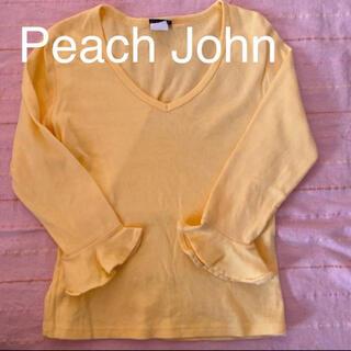 PEACH JOHN - ☆ピーチジョン PJ  カットソー イエロー Sサイズ