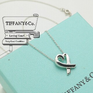 Tiffany & Co. - 新品仕上げ 美品 TIFFANY ティファニー ラヴィングハート ネックレス