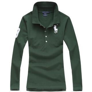 ポロラルフローレン(POLO RALPH LAUREN)の高品質女性用ポロ ラルフローレンポロシャツ長袖11色(ポロシャツ)