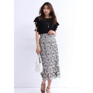 JUSGLITTY - 新品タグ付き!JUSGLITTY♡配色レースタイトスカート