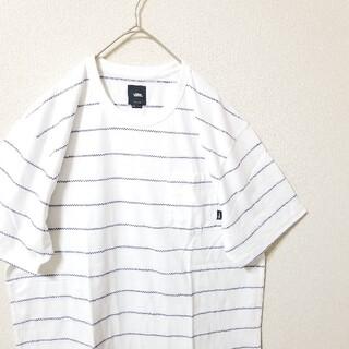 VANS - VANS バンズ★ボーダーTシャツ★白紺★L 半袖Tシャツ