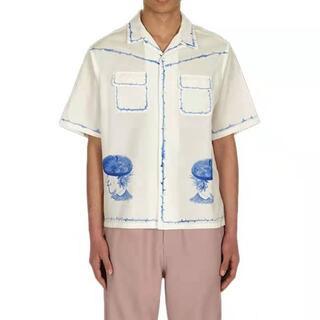 UNDERCOVER - UNDERCOVER Cビエラ半袖開襟シャツ ハンドペイント アンダー