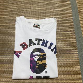 アベイシングエイプ(A BATHING APE)のAPE BAPE KAWS BABY MILO camo  迷彩 tシャツ M(Tシャツ/カットソー(半袖/袖なし))