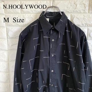 N.HOOLYWOOD - N.HOOLYWOOD エヌハリ 長袖 シャツ M 黒 ブラック