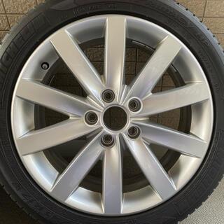フォルクスワーゲン(Volkswagen)のVWゴルフ純正17インチホイールタイヤ付き4本(タイヤ・ホイールセット)