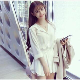韓国ファッション シフォンドレスワンピース ミニワンピース シャツワンピース