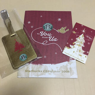 スターバックスコーヒー(Starbucks Coffee)のスターバックス【非売品】holiday 2008 旧ロゴ ネームタグ 【激レア】(ノベルティグッズ)