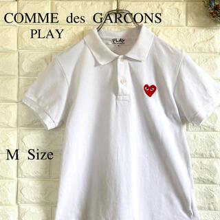 COMME des GARCONS - PLAY COMME des GARÇONS 半袖 ポロシャツ 白 M