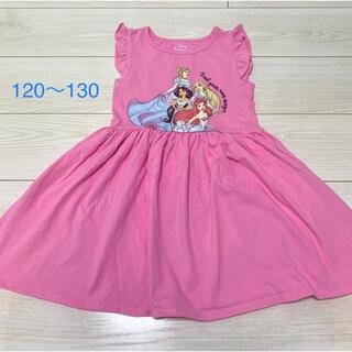 Disney - ディズニー プリンセス ワンピース フリル ピンク ノースリーブ 120〜130