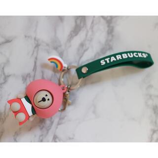Starbucks Coffee - 【新品】台湾スターバックス ベアリスタ 桃 キーホルダー ストラップ ピーチ